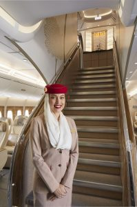 Interiér A380 po posledních úpravách. Foto: Emirates