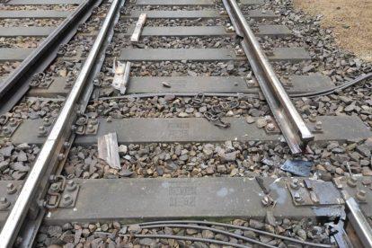 Vykolejení rychlíku 655 ve stanici Hluboká nad Vltavou - Zámostí. Foto: Drážní inspekce