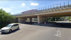 Most na silnici I/35 na okraji Liberce přes Hodkovickou ulici. Foto: Google Street View