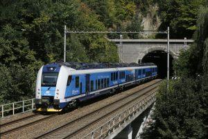 InterPanter Českých drah na trati mezi Adamovem a Brnem. Foto: České dráhy