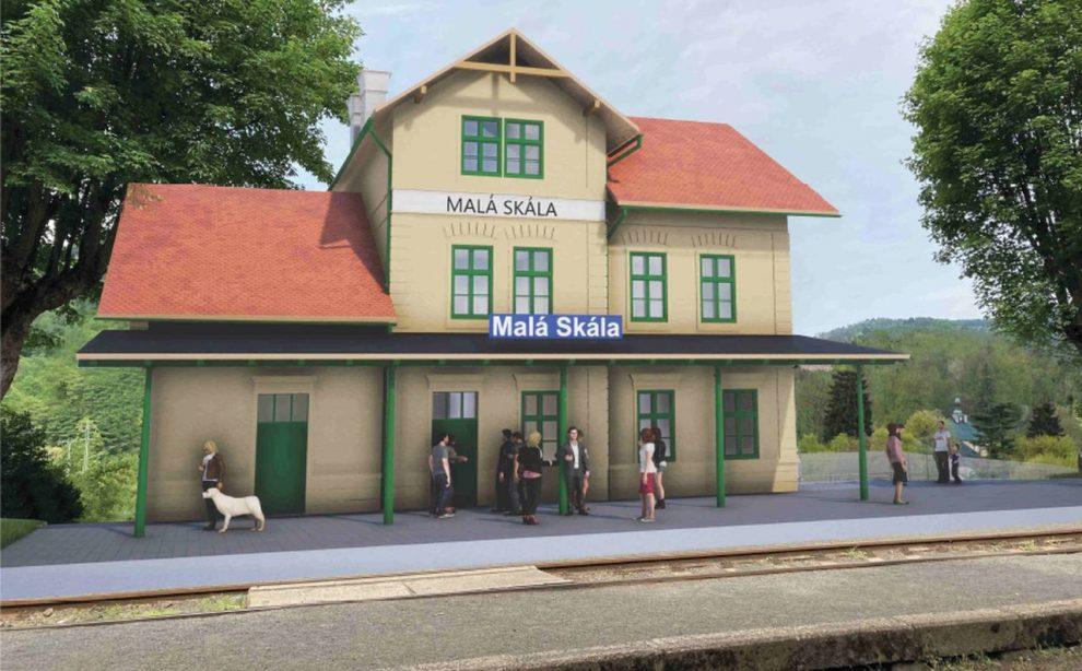 Budova nádraží v Malé Skále po rekonstrukci. Foto: Správa železnic
