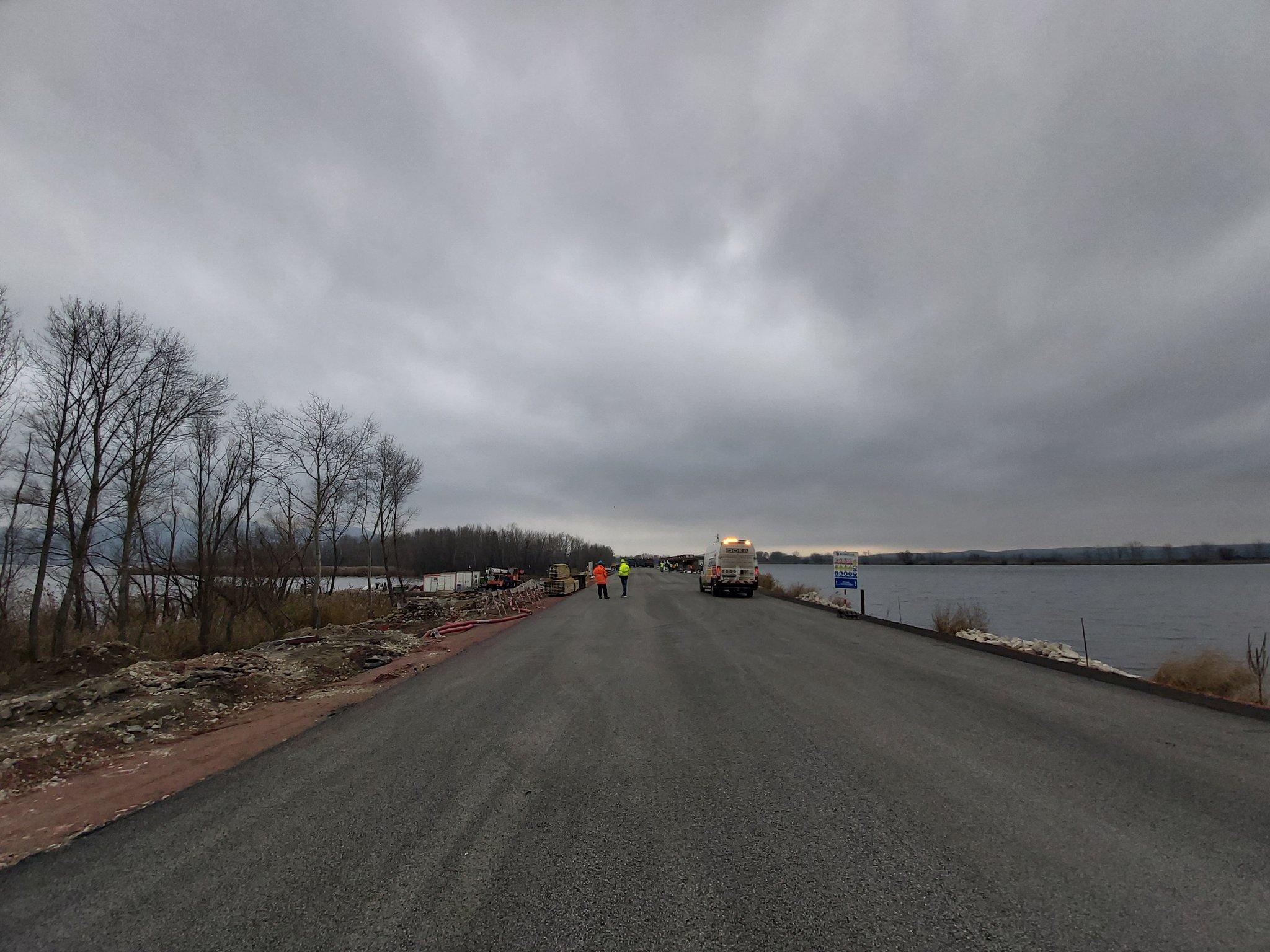 Rekonstruovaná silnice I/52 přes Nové Mlýny. Pramen: ŘSD