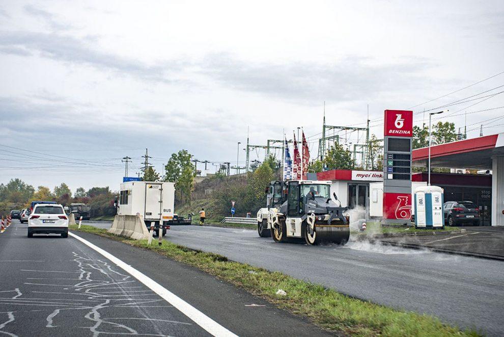Oprava silnice I/13 v Mostě. Foto: ŘSD