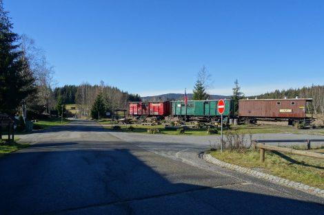 Nové Údolí a přerušená trať do Bavor. Pramen: archiv Pavla Kosmaty