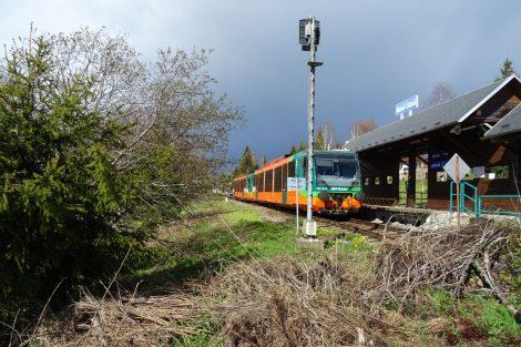 Do Nového Údolí dnes jezdí vlaky společnosti GW Train. Pramen: archiv Pavla Kosmaty
