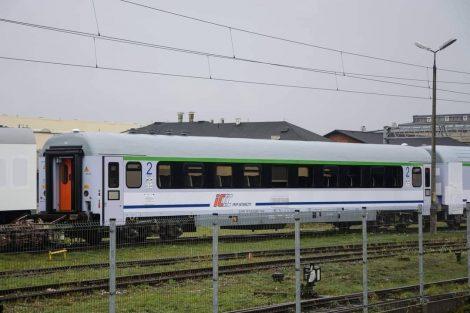 Osobní vozy 111A-20 po modernizaci. Foto: FB Baza Wagonów Kolejowych