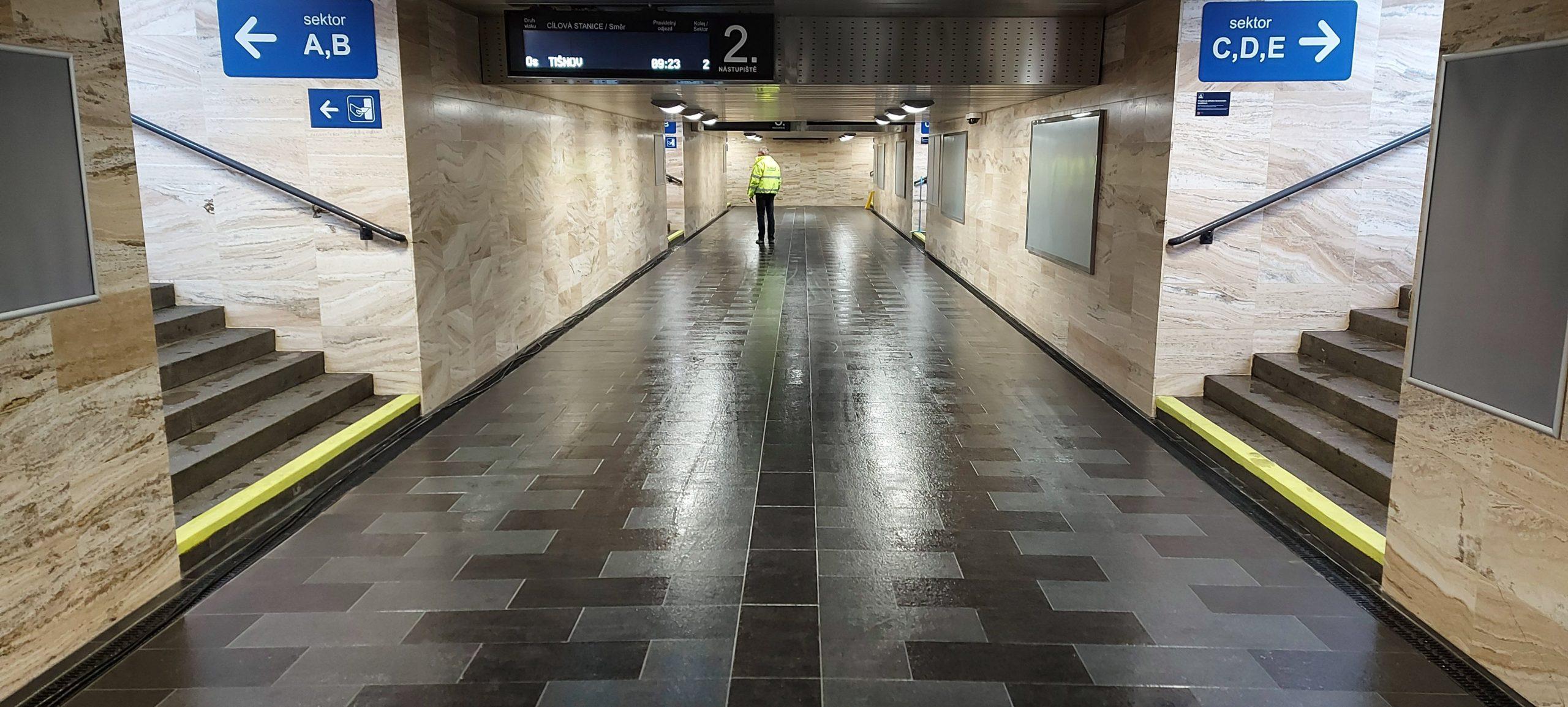 Opravený podchod ve stanici Brno hlavní nádraží. Foto: Správa železnic