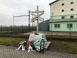 Památník železniční nehodě v Podivíně. Foto: Městský úřad Podivín