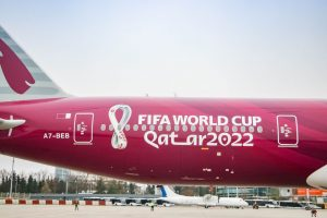 Boeing 777-300ER Qatar Airways v Praze. Foto: Petr Juriš