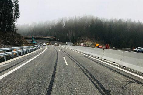 Křižovatka Rádelský mlýn, stav 10.12. 2020. Foto: Liberecký kraj