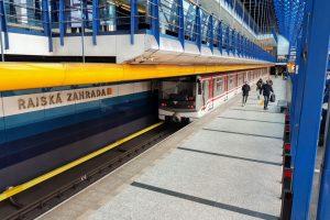 Stanice metra Rajská zahrada. Foto: Jan Sůra / Zdopravy.cz