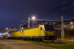 Lokomotivy Bombardier TRAXX MS3 v Praze na Smíchově. Foto: Dan Fedin