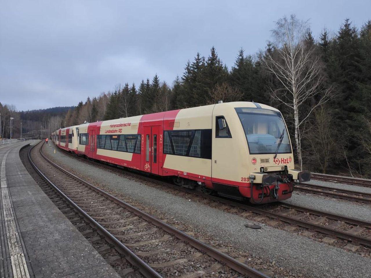 A Németországból beszerzett motorkocsik Najbrt arculatot kapnak, csak ez után állnak forgalomba (fotó: zdopravy.cz)