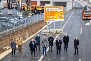 Otevírání silnice S3. Foto: Asfinag