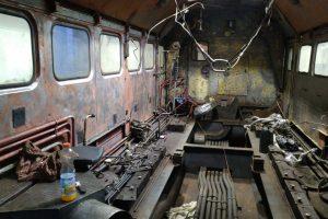 Oprava lokomotivy 781.592 v Přerově. Stav v prosinci 2020. Foto: Radek Šauer