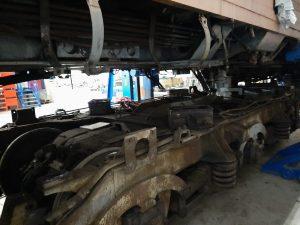 Motor lokomotivy 781.592 před rekonstrukcí. Foto: Radek Šauer
