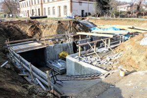Stavba podchodu ve stanici Střelice. Foto: Správa železnic