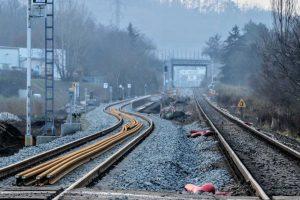 Úpravy tratě Brno - Zastávka u Brna u Starého Lískovce. Foto: Správa železnic