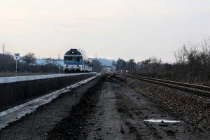 Budoucí nová zastávka Brno - Starý Lískovec. Foto. Správa železnic