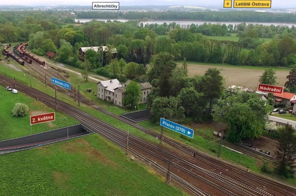 Vizualizace podjezdu ve Studénce. Foto: Správa železnic