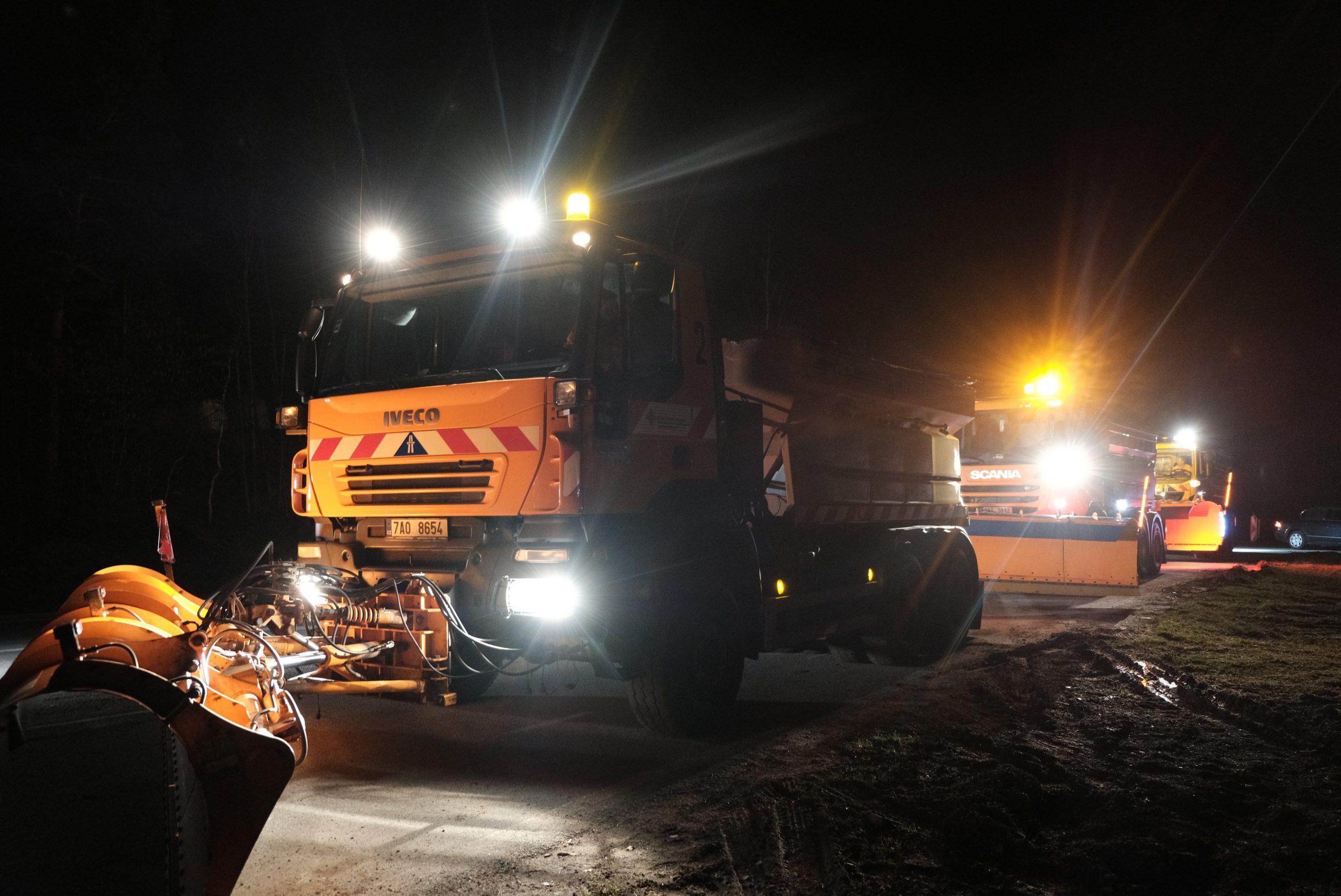 Zimní technika pro údržbu silnic. Ilustrační foto: ŘSD