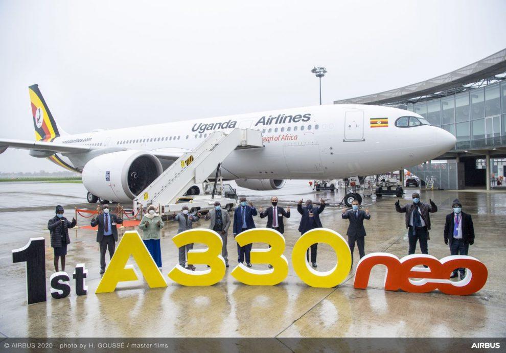 Převzetí Airbusu A330-800 společnosti Uganda Airlines. Foto: Airbus