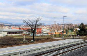 Nová zastávka Karlovy Vary - Aréna. Pramen: Správa železnic