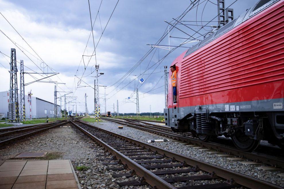 Železniční zkušební okruh ve Velimi. Foto: VÚZ