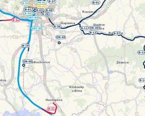 Trasa chystané VRT Jižní Morava (světle modře). Foto: Správa železnic