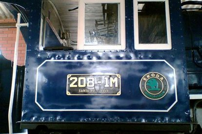 Lokomotiva Škoda v Brazílii. Foto: archiv B. Škody