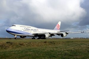 Boeing 747-400 společnosti China Airlines. Foto. AlfvanBeem, CC0, via Wikimedia Commons