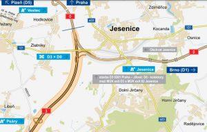 Budoucí křížení D3 a pražského okruhu (D0). Pramen: ŘSD