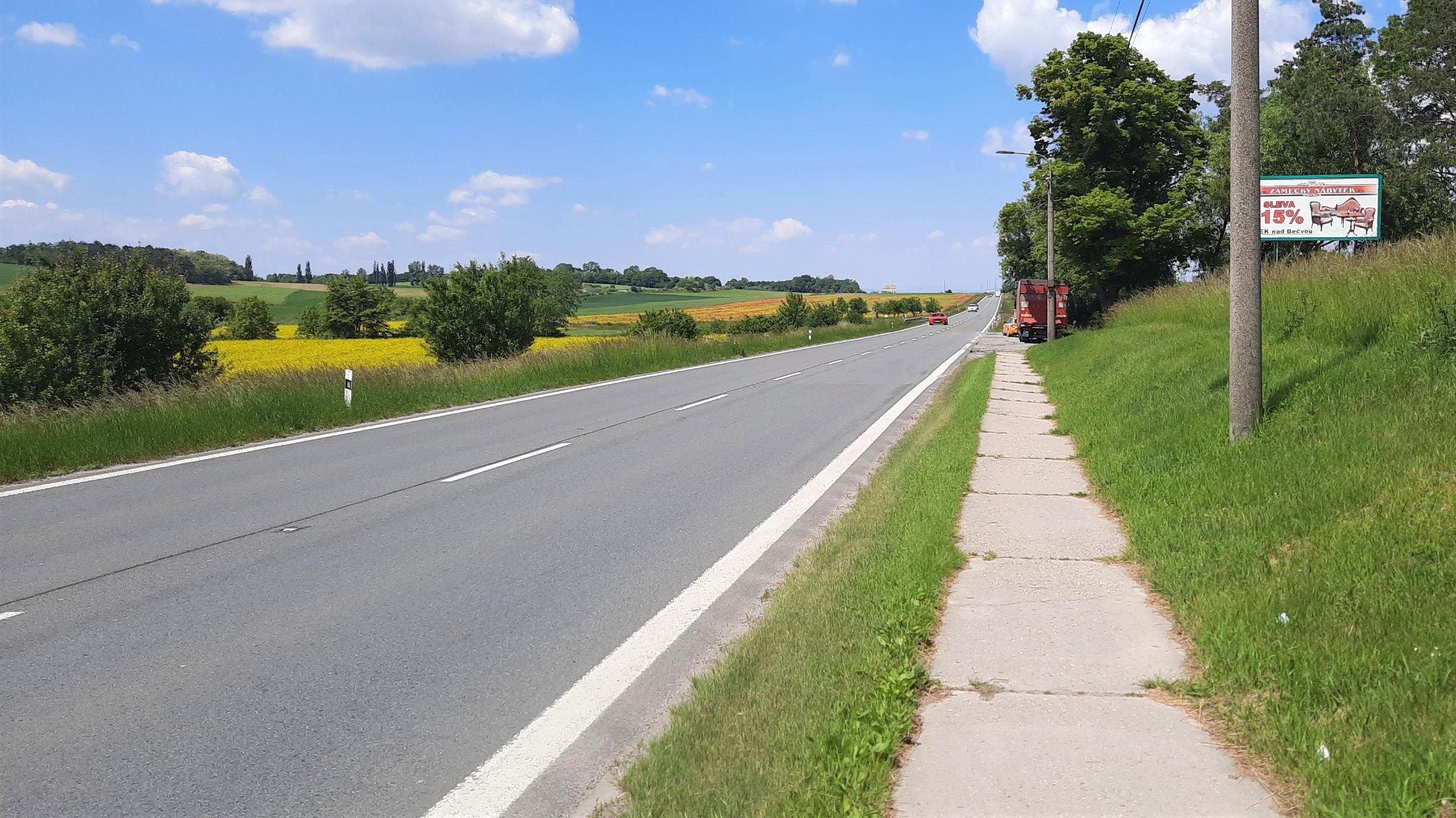 Silnice I/55 mezi Olomoucí a Přerovem. Foto: ŘSD