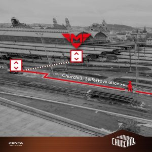 Nová cesta z hlavního nádraží na Žižkov. Pramen: Penta