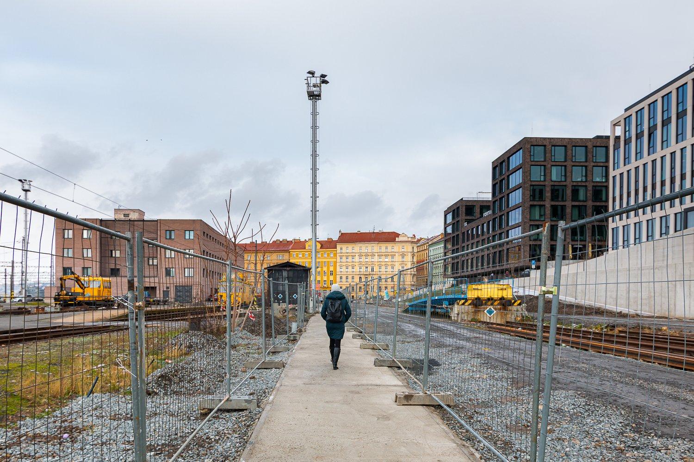 Nová provizorní cesta z hlavního nádraží na Žižkov. Pramen: ROPID
