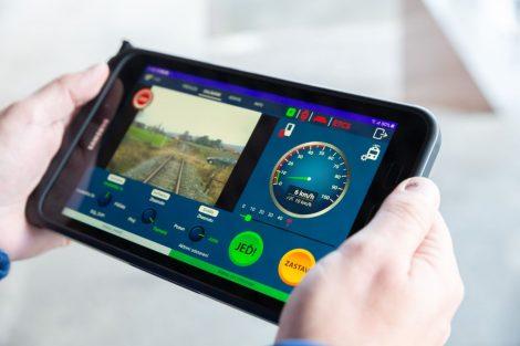 Technologie pro autonomní provoz na železnici na testovacím vozidle AŽD Praha. Foto: AŽD Praha