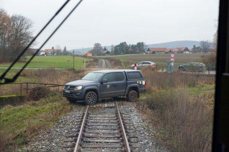 Testování autonomního vlaku mezi Dolním Bousovem a Kopidlnem. Foto: AŽD Praha