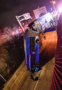 Nehoda autobusu v Bronxu. Foto: Marc A. Hermann / MTAMarc A. Hermann / MTAMarc A. Hermann / MTA