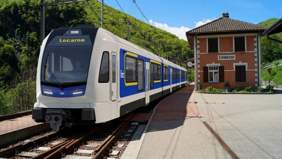 Nové vlaky od Stadleru pro Centovallibahn, vizualizace. Pramen: Stadler