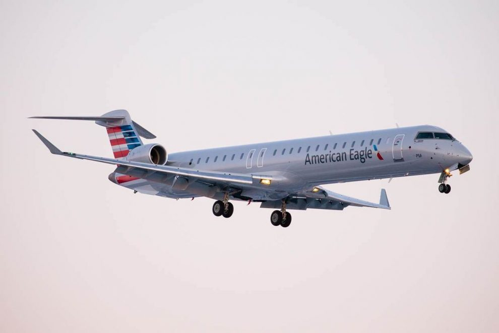 Bombardier CRJ 900 v barvách American Eagle. Foto: PSA Airlines
