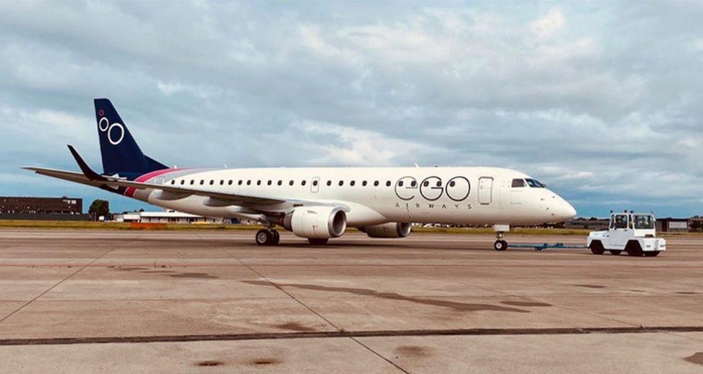 Embraer E190 v barvách EGO Airways. Foto: EGO Airways