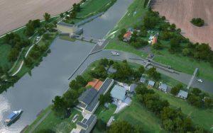 Realizovat se nebude ani plavební komora jako vjezd na Starou Moravu. Pramen: ŘVC