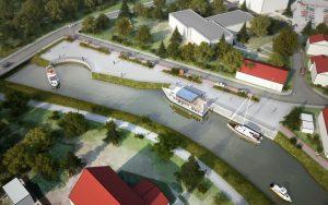 Takto mělo vypadat přístaviště v centru, z plánů sešlo. Pramen: ŘVC