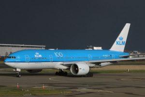 Boeing 777-200 společnosti KLM v Amsterdamu. Foto: Kitmasterbloke / Flickr.com