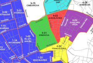 Mapa parkovacích oblastí v okolí Lesnické. Foto: Brno.cz