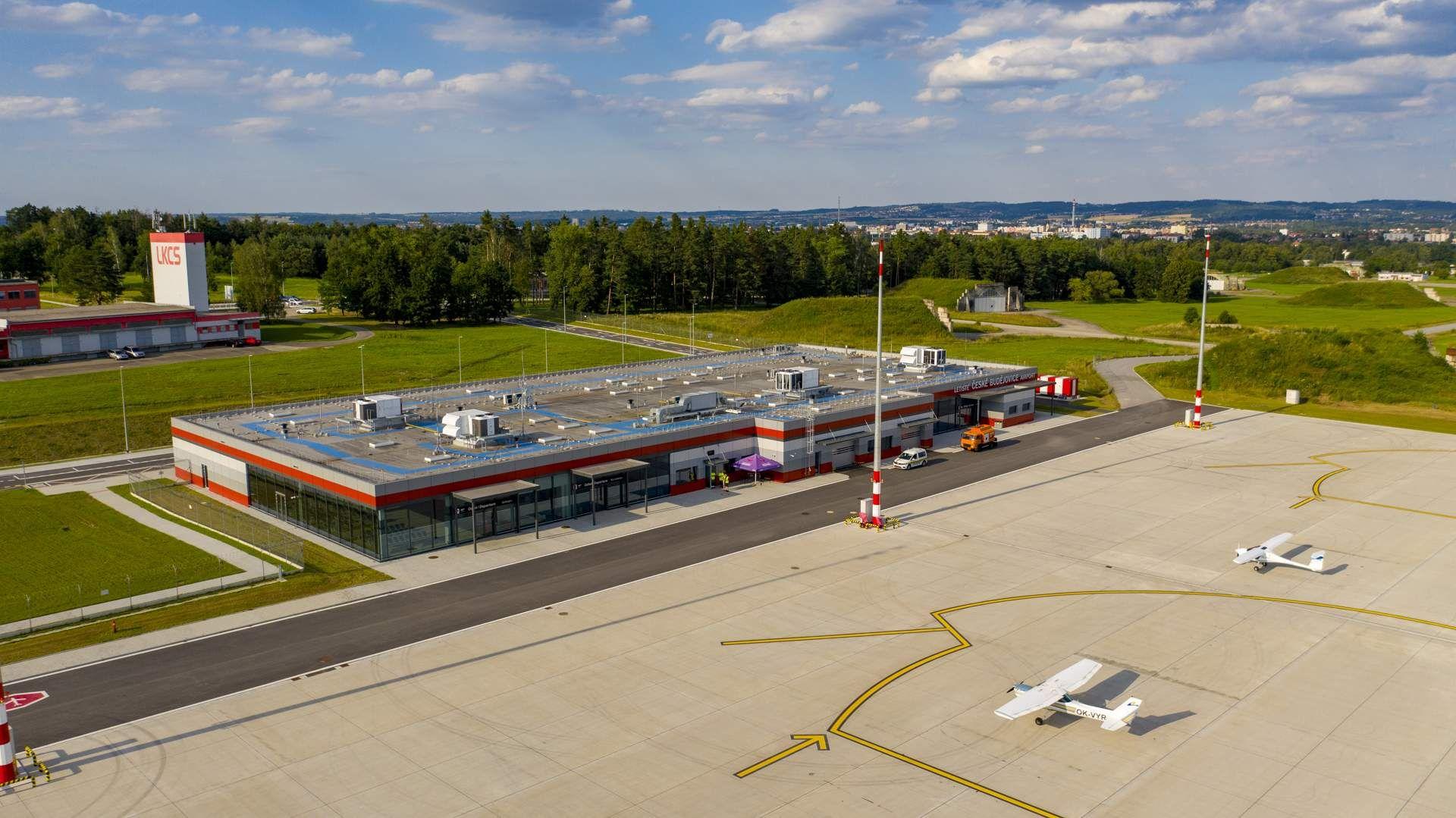 Nový terminál Jihočeského letiště České Budějovice. Pramen: Jihočeské letiště České Budějovice