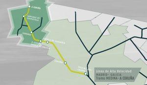 Trasa vysokorychlostní trati z Madridu do Galicie. Foto: Adif