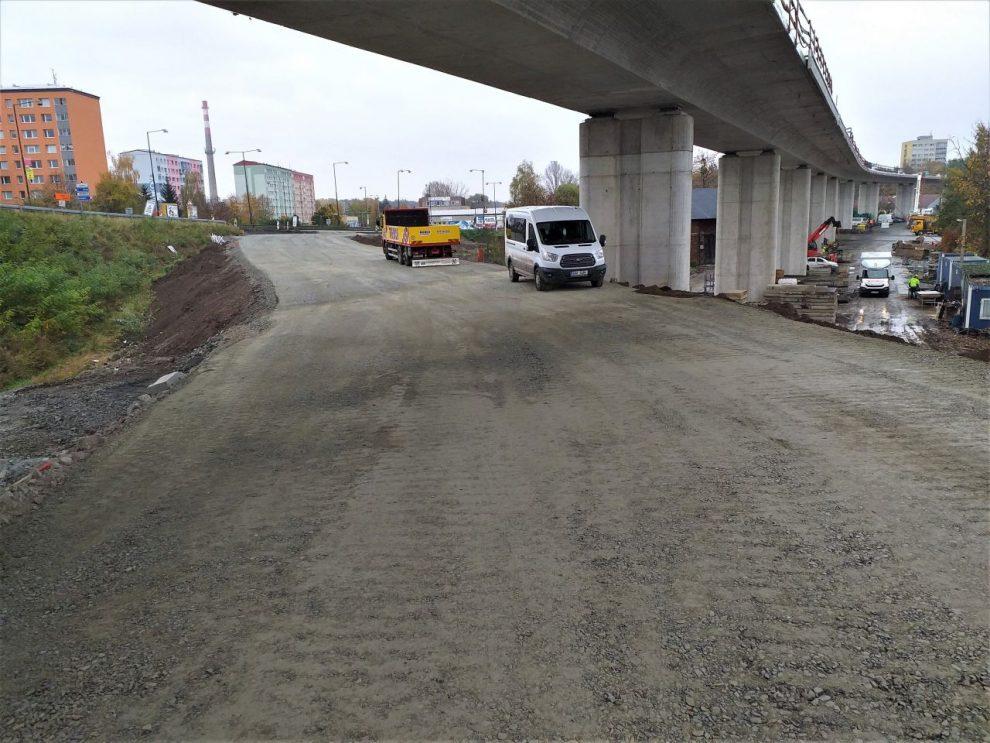 Stavba mostu na silnici I/55 v Přerově. Foto: ŘSD