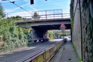 Most pod železničním koridorem v Praze v Průběžné ulici. Foto: Správa železnic
