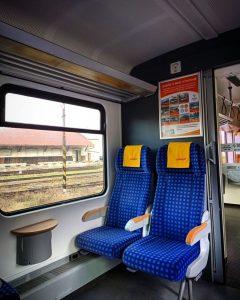 Interiér jednotek 628 RegioJetu po revitalizaci. Foto: RegioJet